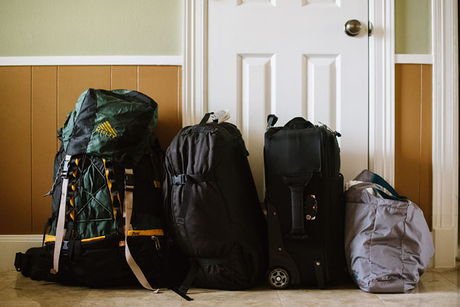 suitcases packed for antarctica